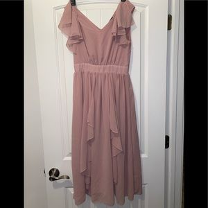 Shein Sheer flowing pink dress S